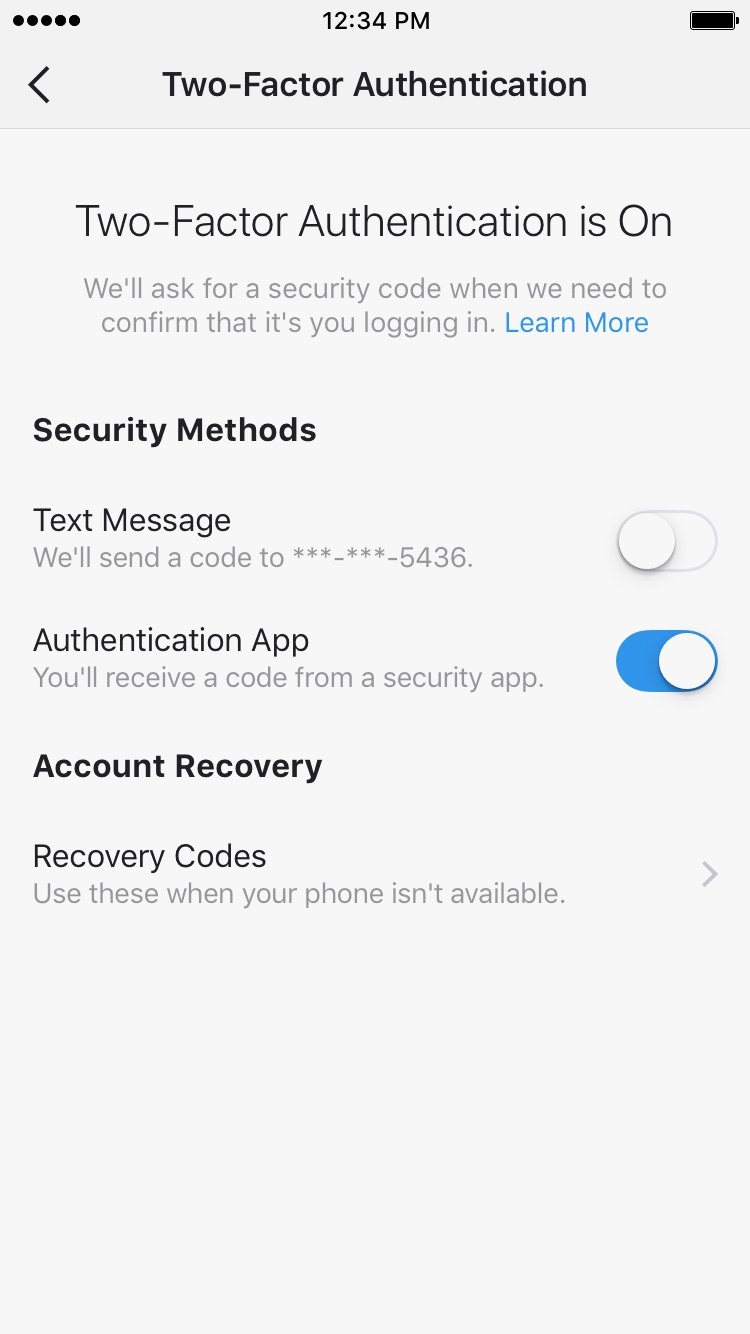 امنیت پیج اینستاگرام
